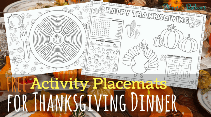 Use these printable Thanksgiving placemat activity sheets for your Thanksgiving kids table this year. Click over to see all of the Thanksgiving kids table ideas.