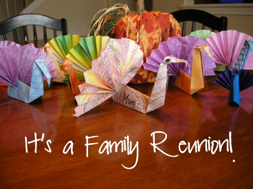 Older kids can make these simple origami turkeys themselves, but younger kids will love finishing off the turkey's fan-tail.