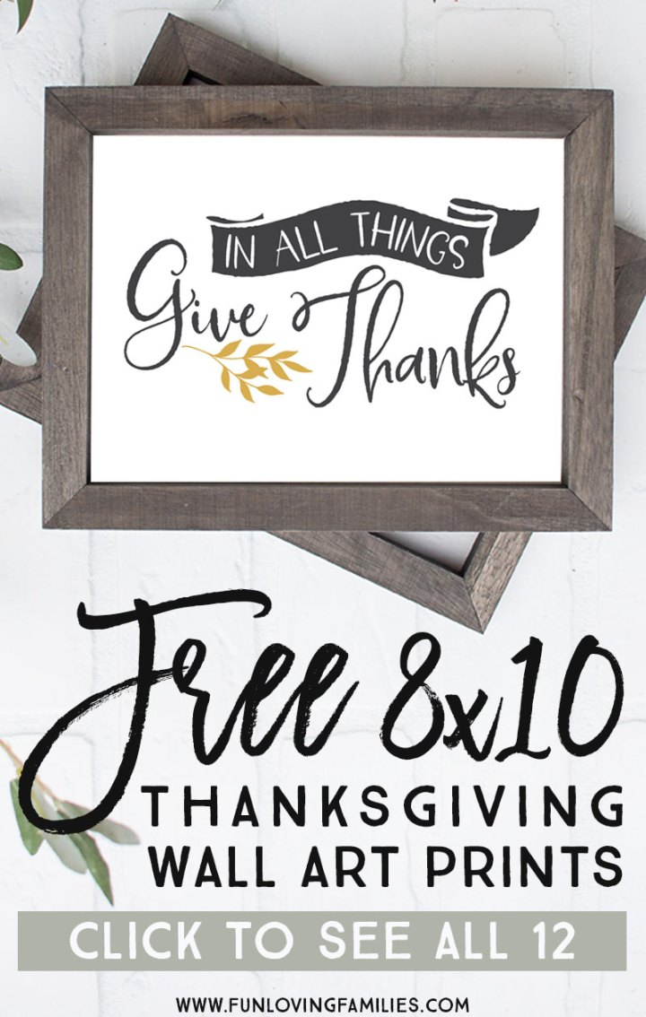 Here are six different free farmhouse Thanksgiving prints available in yellow or sage. Easy PDF download printables for Thanksgiving decor. #farmhouse #farmhousestyle #farmhouseprintables #freeprintables #thanksgivingdecor #givethanks #thankfulprints