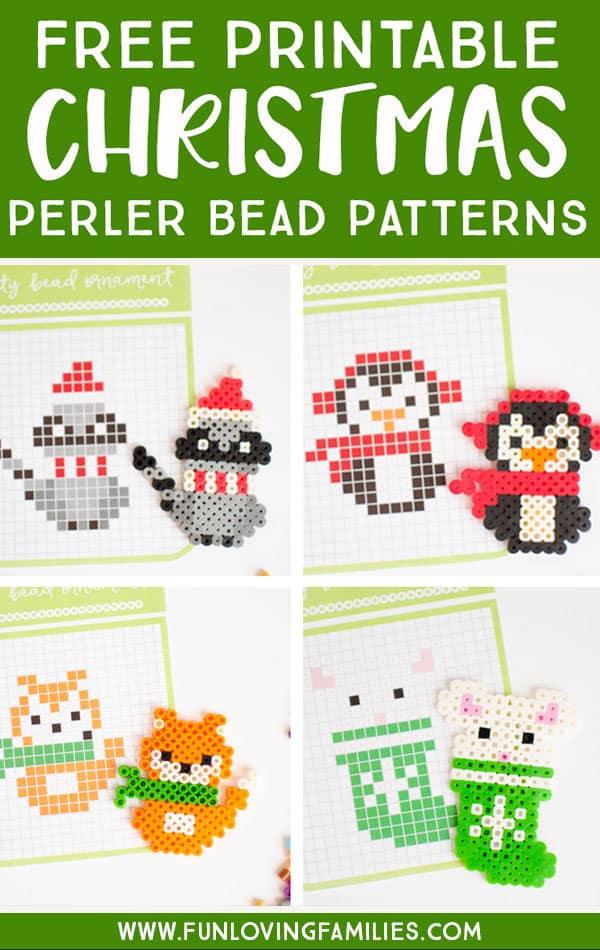 christmas perler bead patterns fun loving families - Christmas Perler Bead Patterns