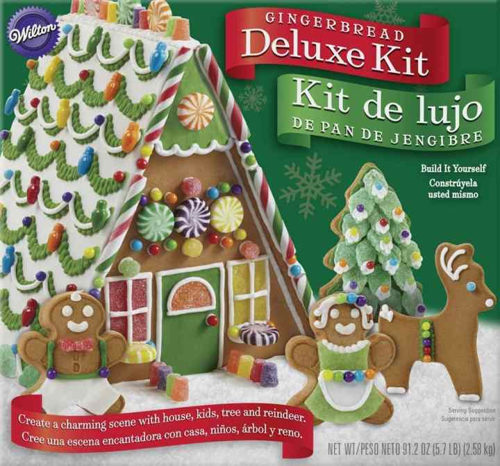 No need to spend time rolling and baking gingerbread. Just pick up one of these gingerbread house making kits.