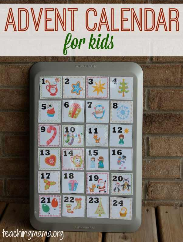 This muffin tin advent calendar is the perfect DIY kid-friendly Christmas countdown. Put little treats or candy in the muffin cups for the kids each day. #AdventCalendar #ChristmasCountdown #FreePrintable
