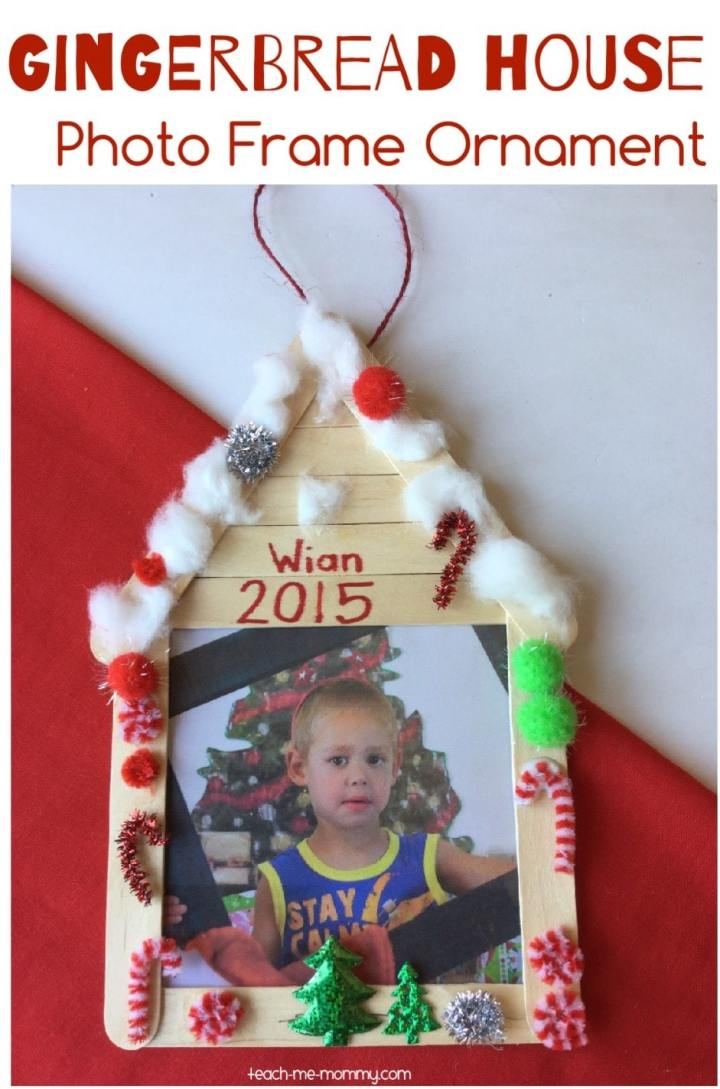 Include the kids in some Christmas crafting and make this adorable gingerbread house photo frame.