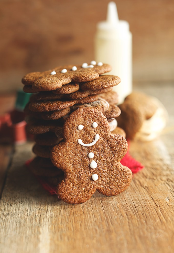 This vegan and gluten free gingerbread recipe is strong and sturdy enough to use for making a gingerbread house. Great recipe for people with dietary restrictions. #GingerbreadHouse #Vegan #GlutenFree #Recipe