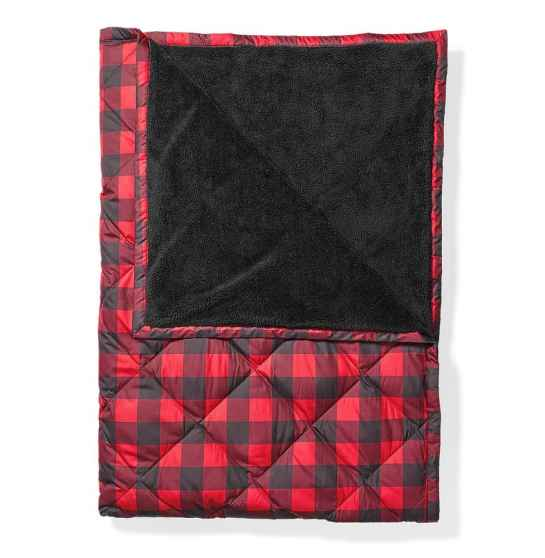 Warm and cozy, all time best throw black in buffalo check.