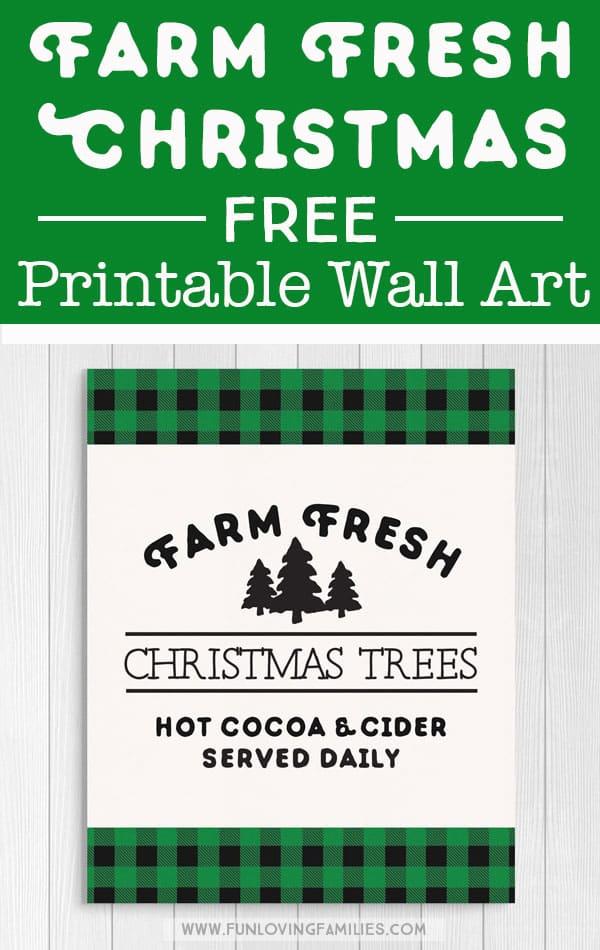 Love this green plaid Christams decor. Use the free printable for easy Christmas decorating that's also cheap! #christmas #greenplaid #christmasdecor #freeprintable