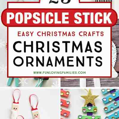 25 Fun and Easy DIY Popsicle Stick Ornaments