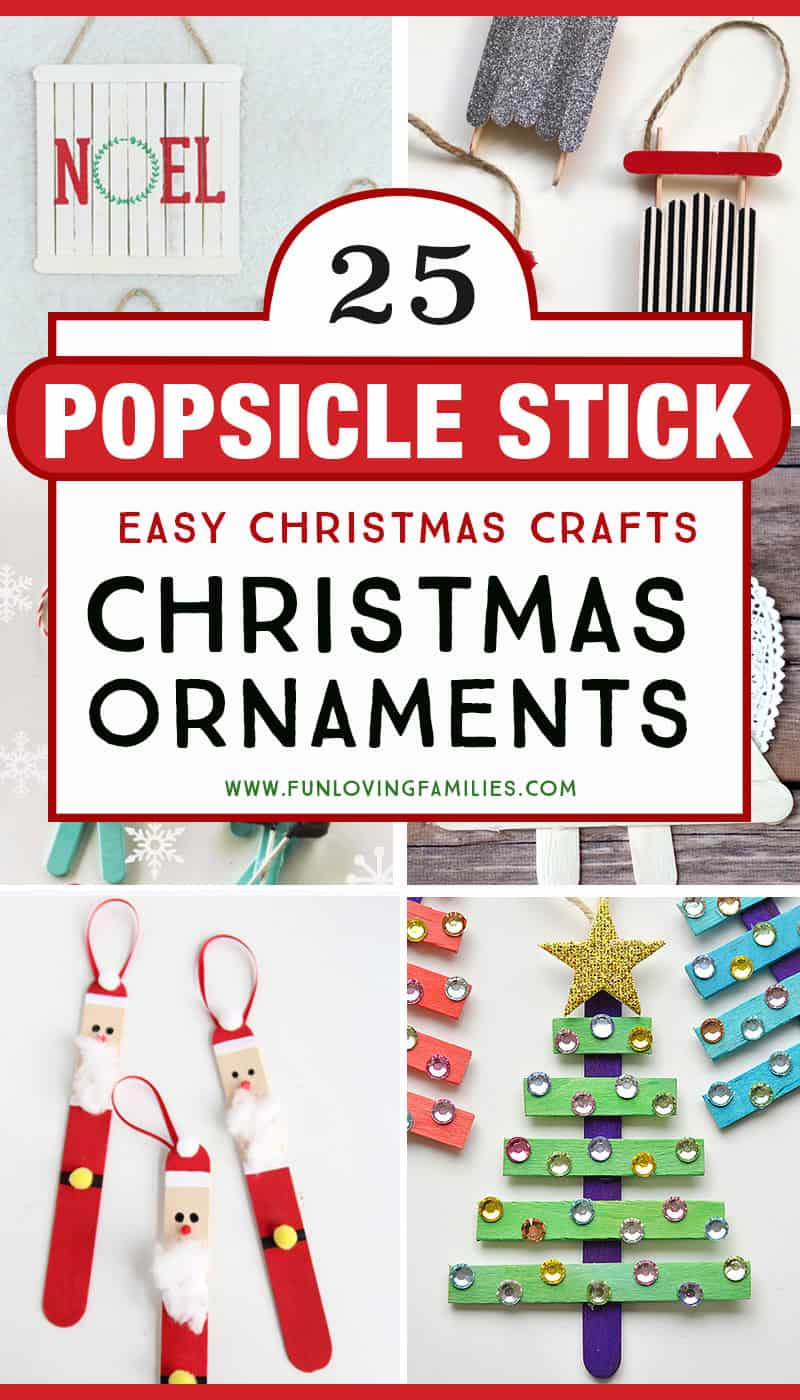 popsicle stick Christmas craft ornaments