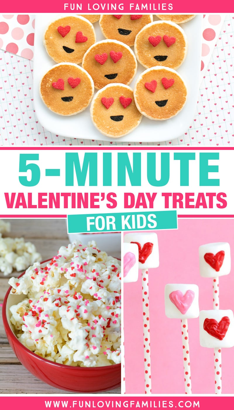 These easy Valentine's Day treats for kids are just right when you're out of time. Make these for classroom Valentine's Day parties or just a special surprise for the kids. #ValentinesDay #ValentinesDayTreats