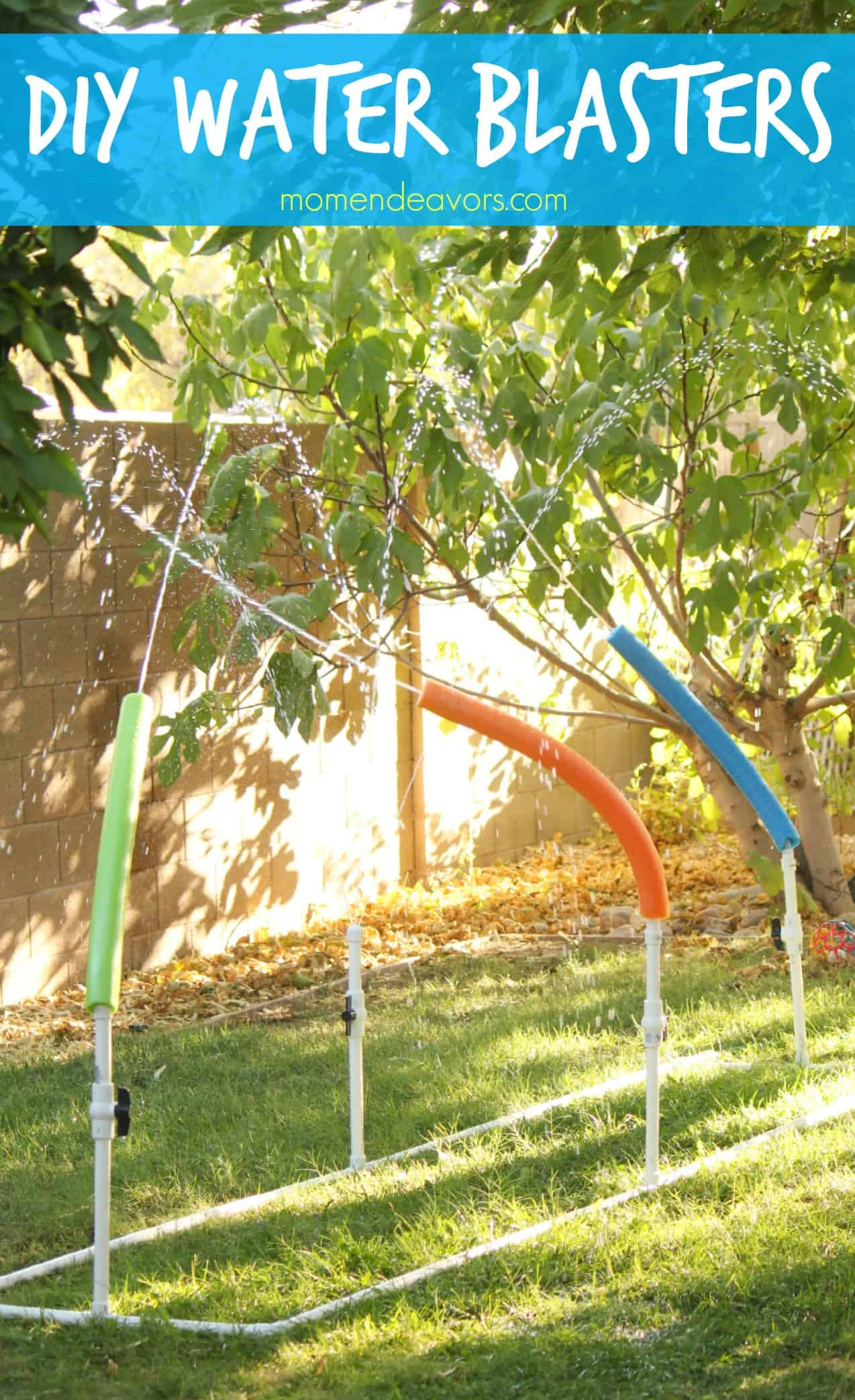 Kids will love running through the sprinklers or having water fights with this DIY Water Blasters tutorial (via Mom Endeavors). Part of a roundup of amazing DIY Backyard play ideas.