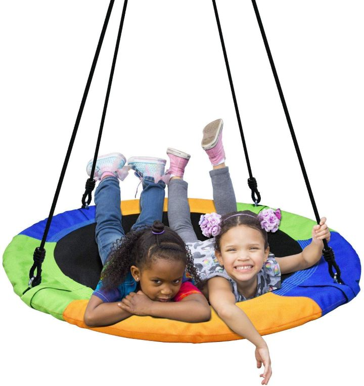 hanging saucer swing for kids