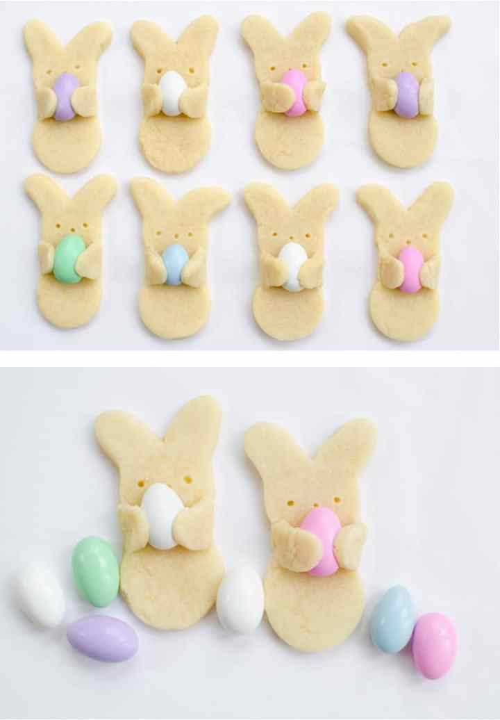 cute bunny shaped cookies for Easter
