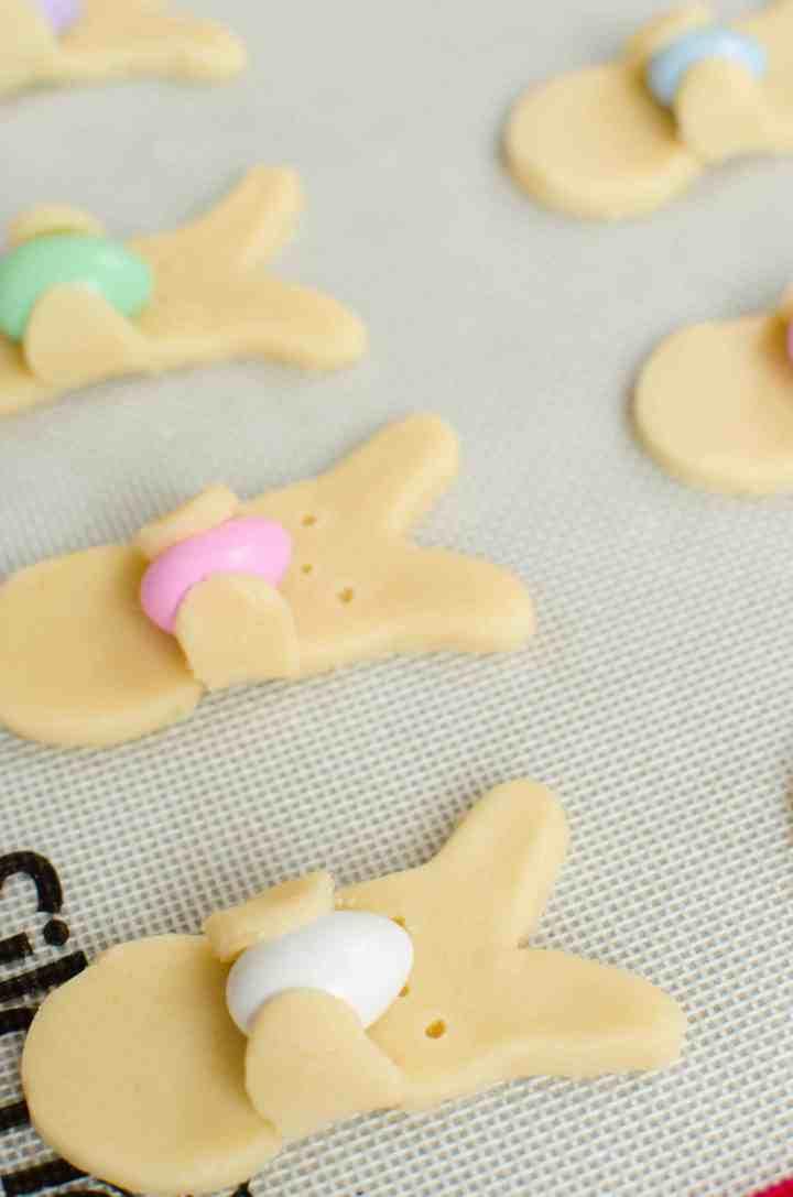 bunny hug cookies before baking