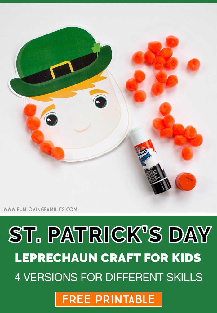 leprechaun template for kids craft