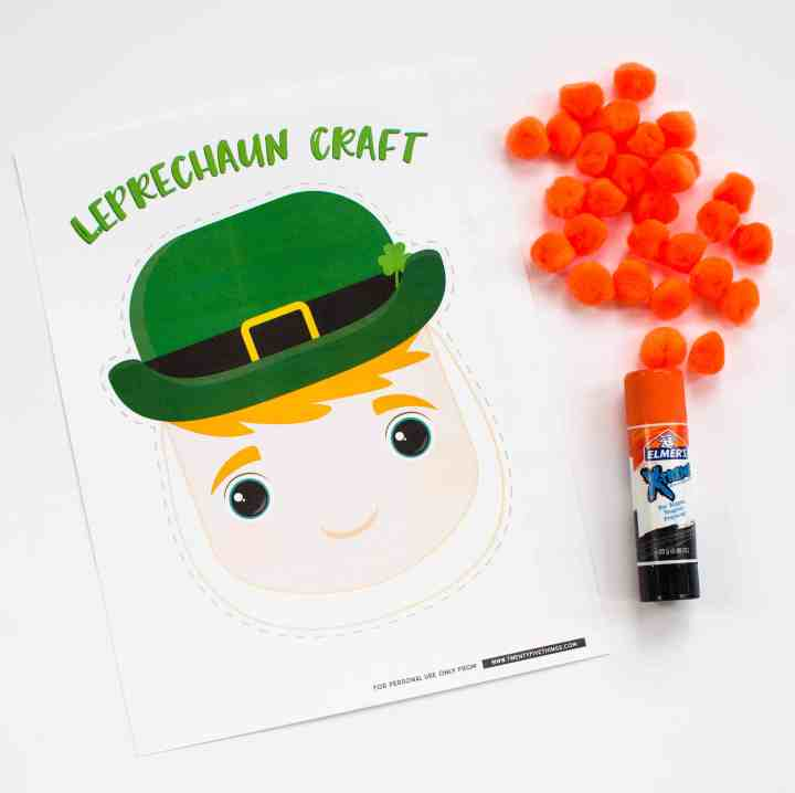 supplies for pom pom leprechaun beard