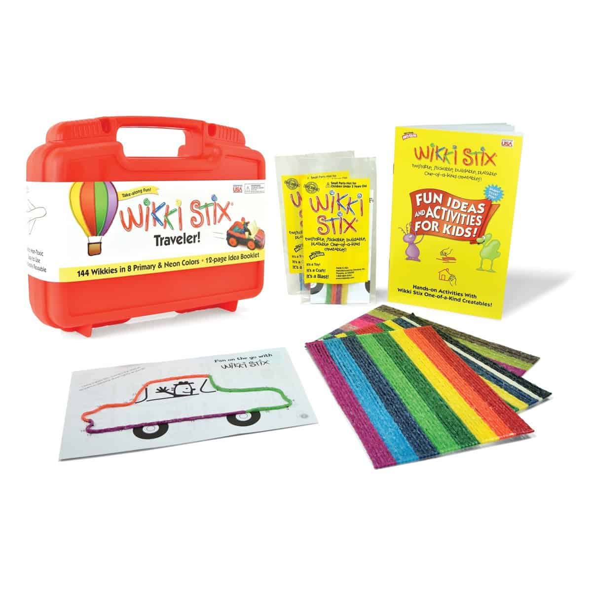 Wikki stix traveler is a fun, mess-free activity for kids that makes an awesome boredom buster on long car trips.