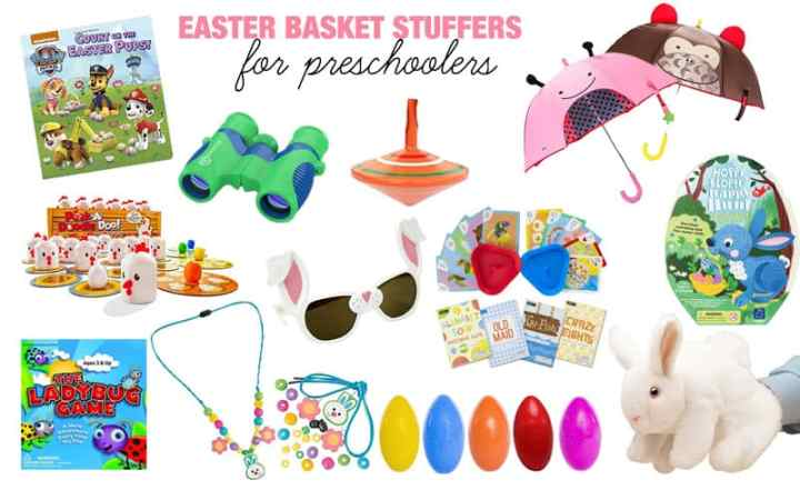 Easter basket stuffers for preschoolers