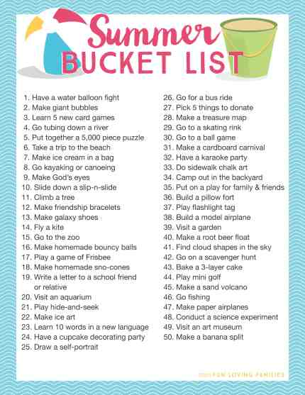Grab our free Summer Bucket list printables to plan your fun-filled summer with the kids. Click through to see all 100 summer bucket list ideas.
