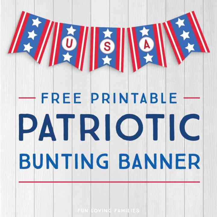 Celebrate the stars and stripes with this free printable patriotic banner.