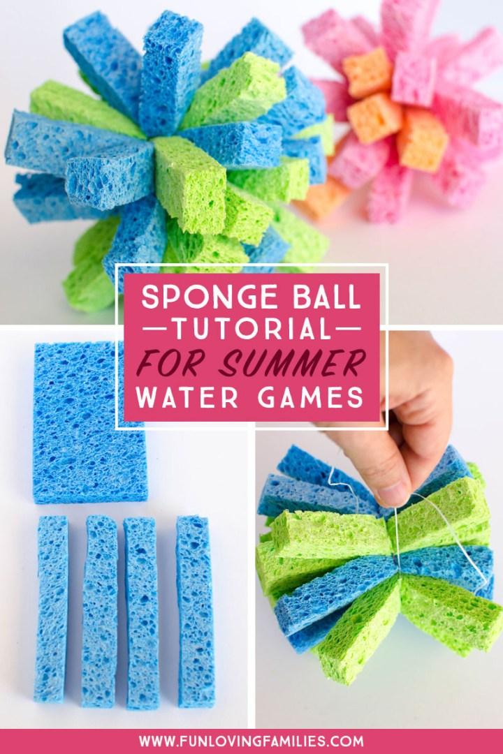 steps that show how to make a sponge ball