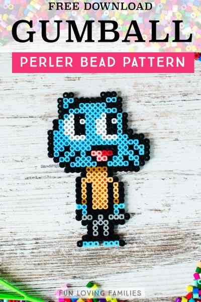 Gumball Watterson melty bead template.