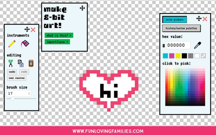 tool for designing your own Perler Bead Patterns