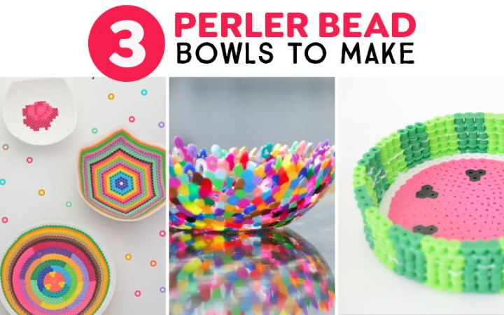 bowls made from Perler beads