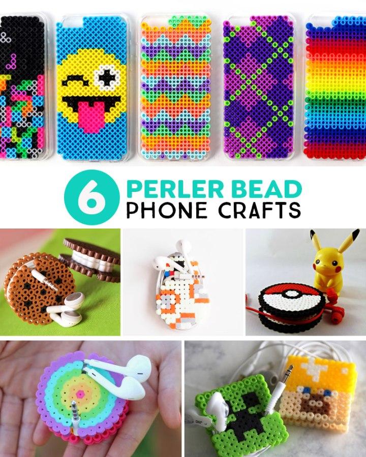 Perler bead phone crafts