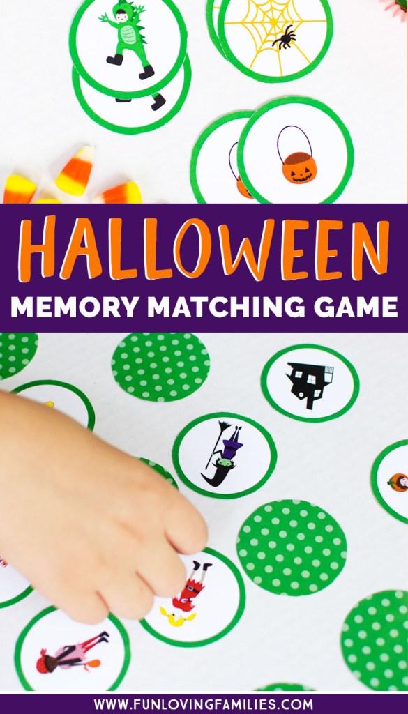 DIY Halloween memory matching game printable