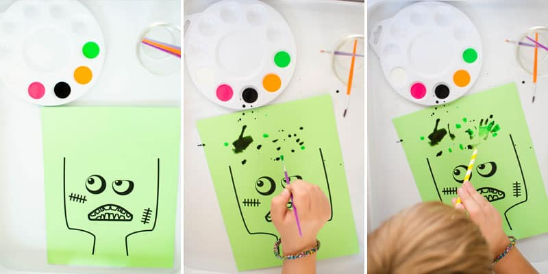 zombie kids activity with free printable.