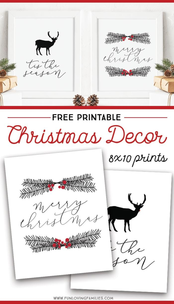 free printable christmas wall art fun loving families free printable christmas wall art fun