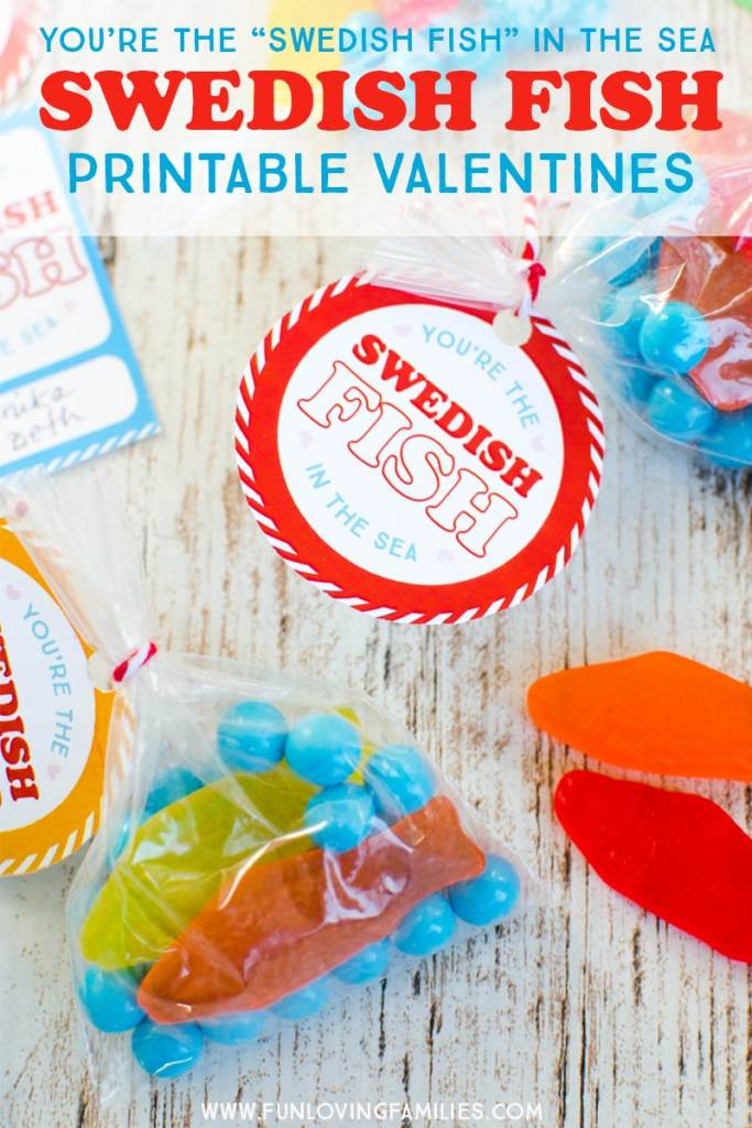 Swedish Fish DIY kids valentines