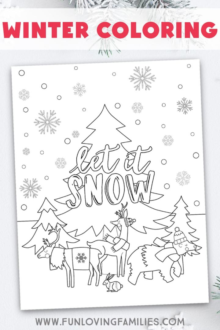 Winter Coloring Pages For Kids Fun Loving Families