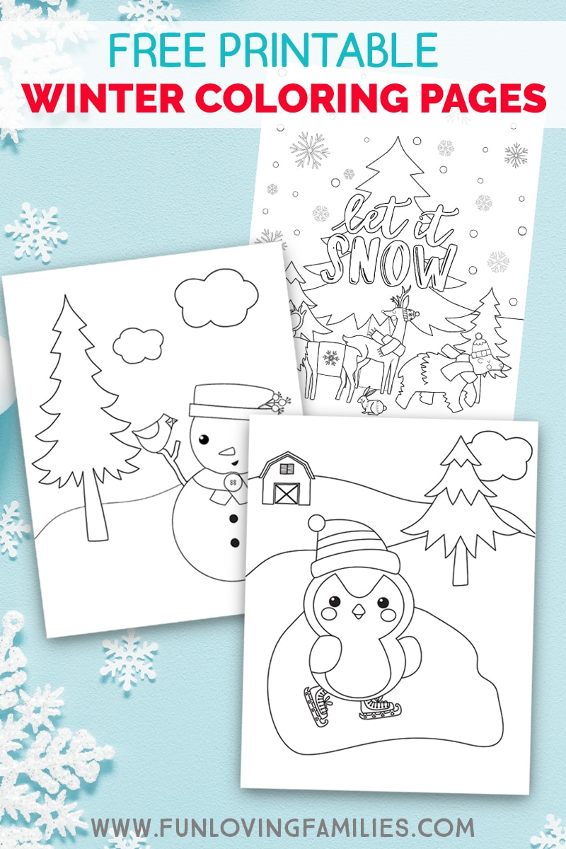 Free printable Winter coloring pages for kids. Grab the instant download PDF and join the kids for some adorable winter coloring fun. #kidscoloring #winter #penguincoloringpage #snowmancoloringpage #freeprintable #freecoloringpages #freecoloringsheets