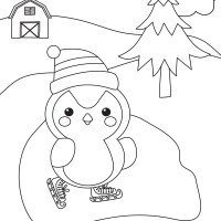 3 Winter Coloring Pages for Kids