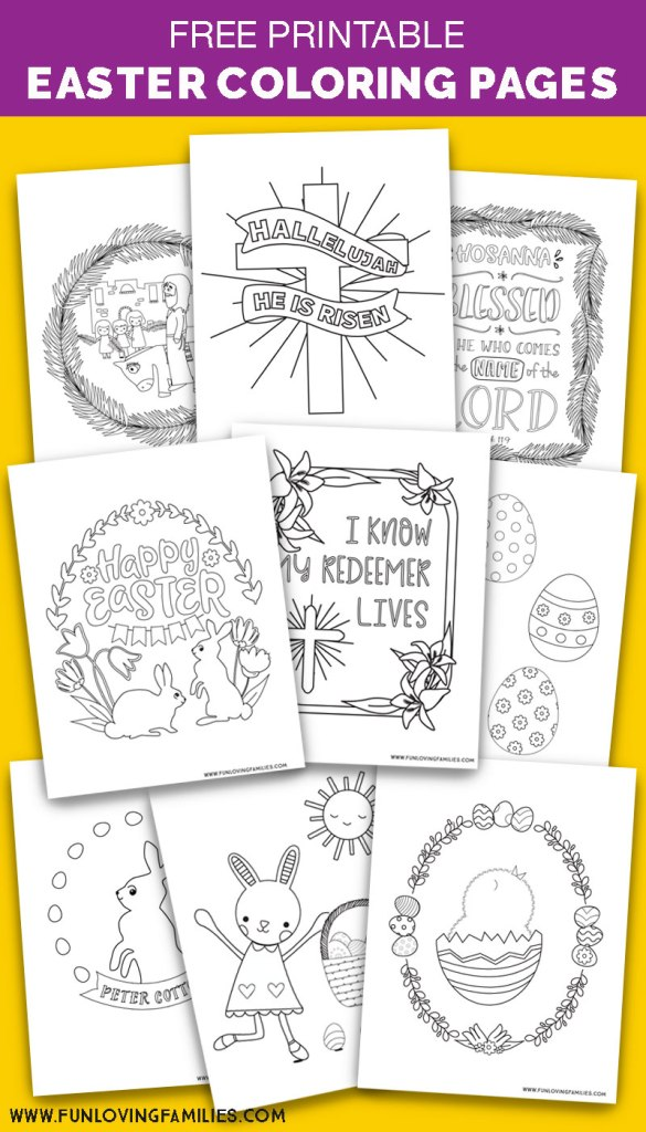 Cute Easter coloring pages free printables