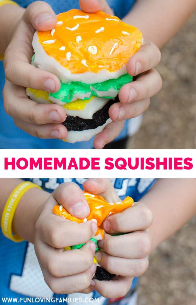 homemade hamburger squishy