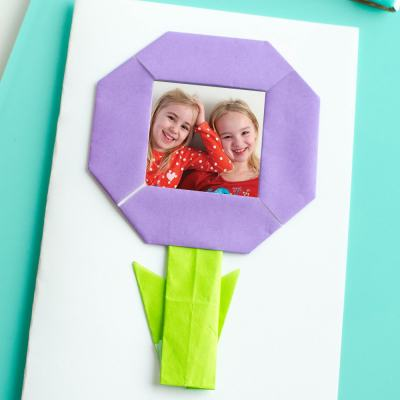 Origami Flower Cards for Mother's Day
