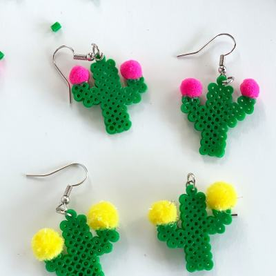 Cute DIY Cactus Earrings (with video tutorial)