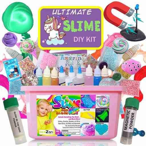 unicorn slime kit with paint and supplies