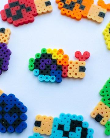 rainbow perler bead pattern snail