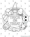 trick or treat witch coloring sheet