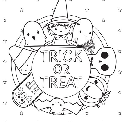 Halloween Coloring Pages (Free Printables)
