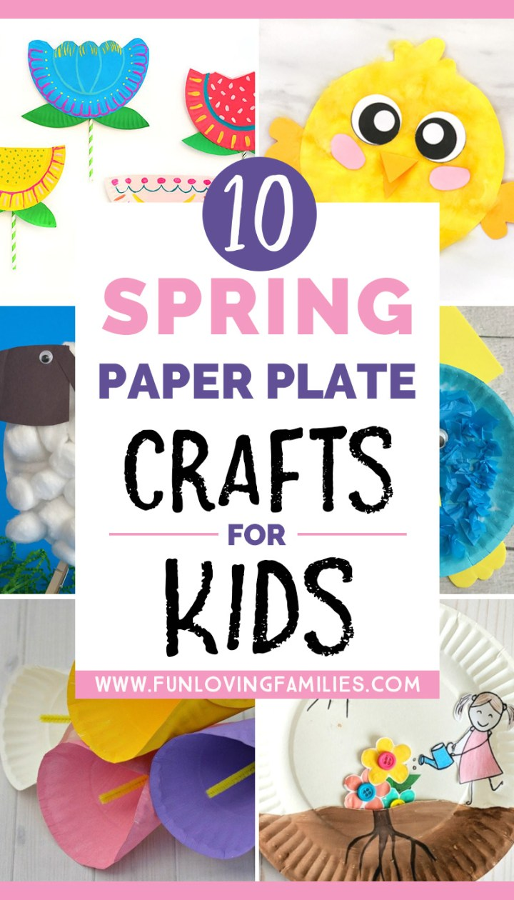 Spring paper plate crafts for kids