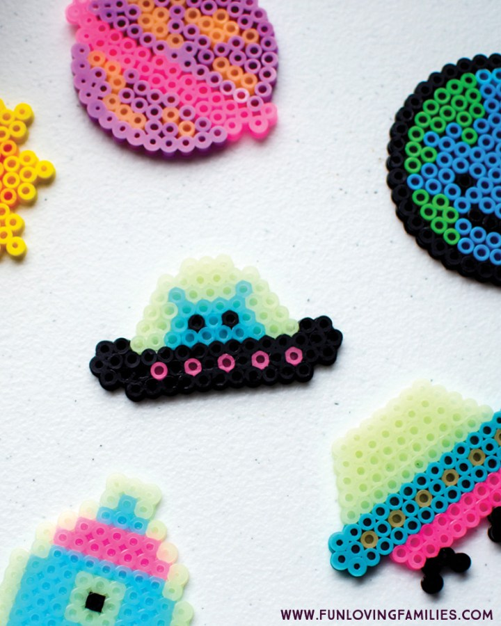 alien spaceship kids perler bead craft