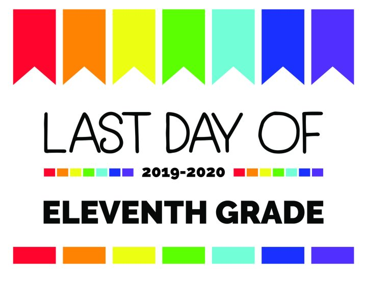 last day of eleventh grade printable sign