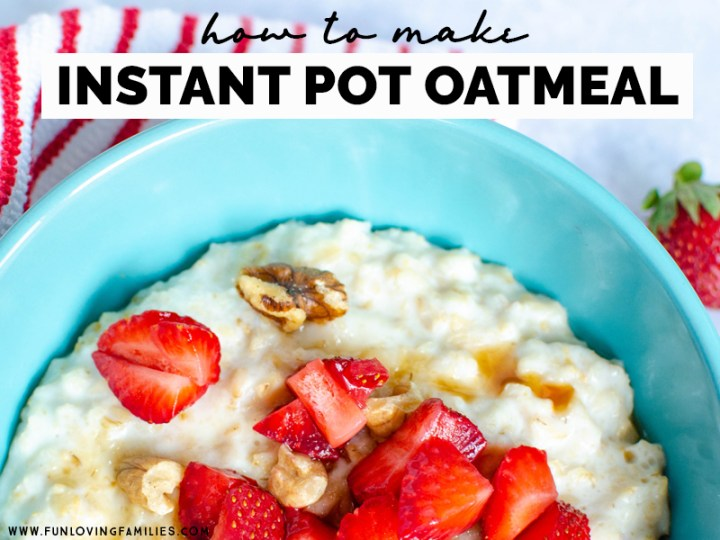 instant pot oatmeal with strawberries