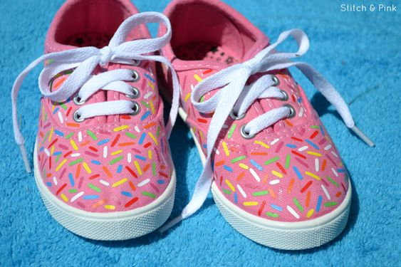 iron on sprinkle shoes
