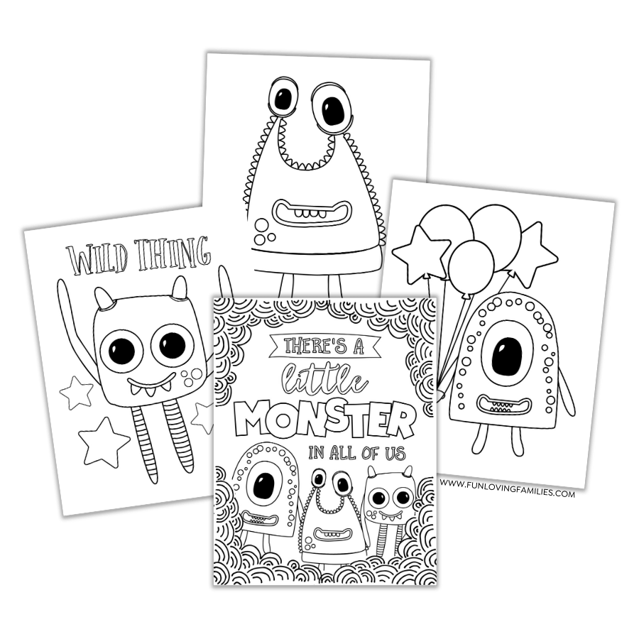 - Monster Coloring Pages: 4 Cute And Silly Monsters For Kids (Free Printables)  - Fun Loving Families