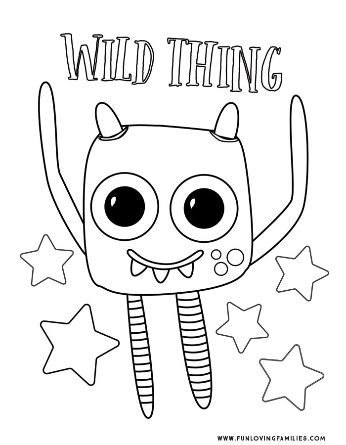 Monster Coloring Pages 4 Cute And Silly Monsters For Kids Free Printables Fun Loving Families